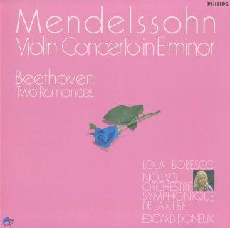 メンデルスゾーン:ヴァイオリン協奏曲Op.64,ベートーヴェン:ロマンス1番Op.40,2番Op.50
