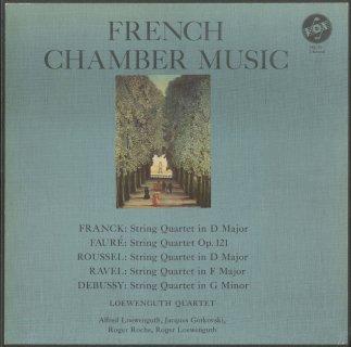 フランス弦楽四重奏曲集/フランク,フォーレ,ルーセル,ラヴェル,ドビュッシー