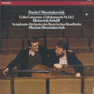 ショスタコーヴィチ:チェロ協奏曲1番Op.107,2番Op.126