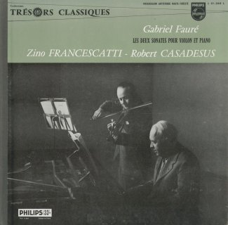 フォーレ:ヴァイオリン・ソナタ1番Op.13,2番Op.108