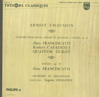 ショーソン:協奏曲Op.21,詩曲Op.25