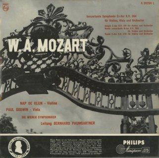 モーツァルト:協奏交響曲K.364,アダージョK.261,ロンドK.269,373