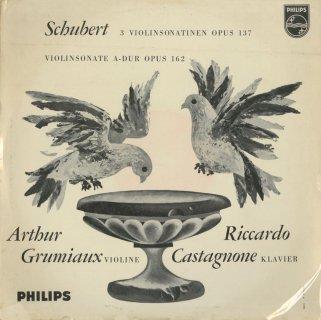 シューベルト:ヴァイオリン・ソナティナ1番Op.137-1,2番Op.137-2,3番Op.137-3,ヴァイオリン・ソナタOp.162