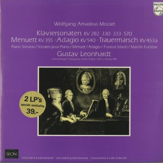 モーツァルト:ピアノ・ソナタK.282,330,333,570,メヌエットK.355,アダージョK.540,小葬送行進曲K.453a