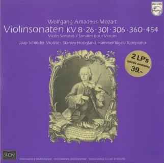 「モーツァルト:ヴァイオリン・ソナタ集」K.8,26,301,306,360,454