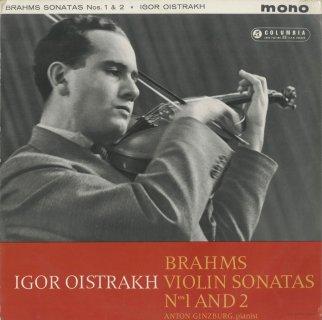 ブラームス:ヴァイオリン・ソナタ1,2番Op.78,100