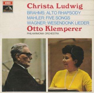 ブラームス:アルト・ラプソディ,ワーグナー:ヴェーゼンドンク歌曲集,マーラー:歌曲(5曲)