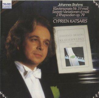 ブラームス:ピアノ・ソナタ3番Op.5,主題と変奏(弦楽六重奏曲第1番より),2つの狂詩曲Op.79