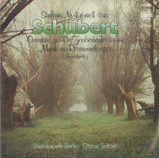 シューベルト:交響曲4番「悲劇的」,魔法の竪琴〜序曲,ロザムンデより