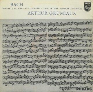 バッハ:6つの無伴奏ヴァイオリン・ソナタBWV.1001-1006