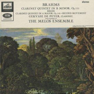 ブラームス:クラリネット五重奏曲Op.115,レーガー:クラリネット五重奏曲〜2楽章