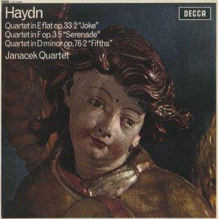 ハイドン:弦楽四重奏曲38番Op.33-2「冗談」,17番Op.3-5「セレナーデ」,76番Op.76-2「五度」