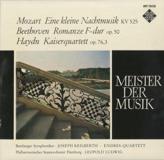 モーツァルト:アイネ・クライネ,ベートーヴェン:ロマンスOp.50,ハイドン:弦楽四重奏曲77番