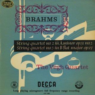 ブラームス:弦楽四重奏曲2番Op.51−2,3番Op.67