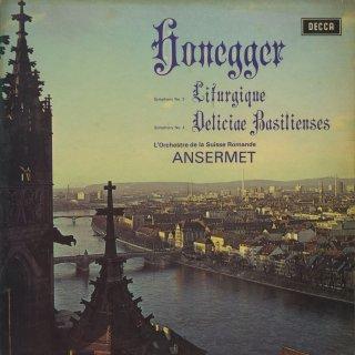 オネゲル:交響曲3番「典礼風」,4番「バーゼルの喜び」