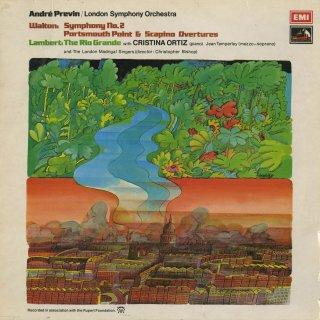 ウォルトン:交響曲2番,序曲「ポーツマス岬」,「スカピーノ」,他