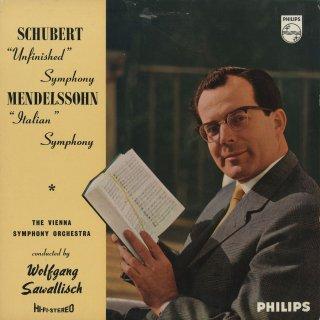 シューベルト:交響曲8番「未完成」,メンデルスゾーン:交響曲4番Op.90「イタリア」