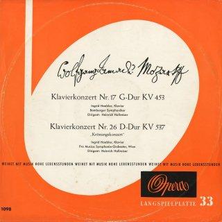 モーツァルト:ピアノ協奏曲17番K.453,26番K.537「戴冠式」