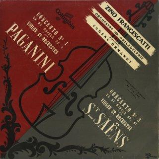 ヴァイオリン協奏曲集/パガニーニ:1番Op.6,サン・サーンス:3番Op.61