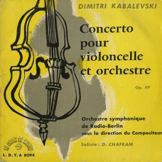カバレフスキー:チェロ協奏曲Op.49