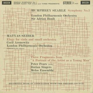 サール:交響曲1番Op.23,シェイベル(セイバー):エレジー,カンタータ:ユリシーズ