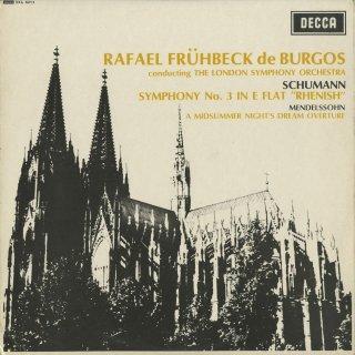シューマン:交響曲3番Op.87「ライン」,メンデルスゾーン:真夏の夜の夢序曲Op.21