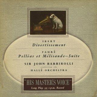 イベール:室内管弦楽のためのディヴェルティメント,フォーレ:組曲「ペレアスとメリザンド」
