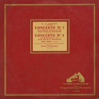 モーツァルト:ヴァイオリン協奏曲1番K.207,2番K.211
