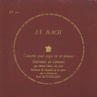 バッハ:オルガン協奏曲B.1052,3つのシンフォニア(カンタータ35・49・169番より)