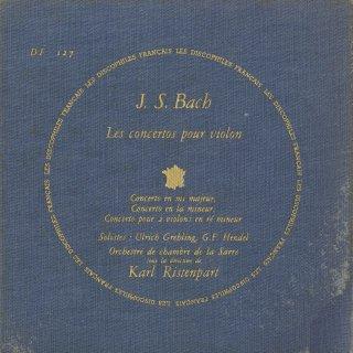 バッハ:ヴァイオリン協奏曲1番B.1041,2番B.1042,2ヴァイオリン協奏曲B.1043