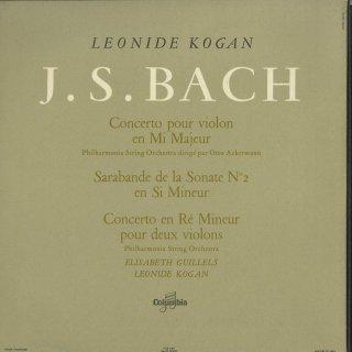 バッハ:ヴァイオリン協奏曲2番,サラバンド(無伴奏ソナタ2番),2ヴァイオリン協奏曲