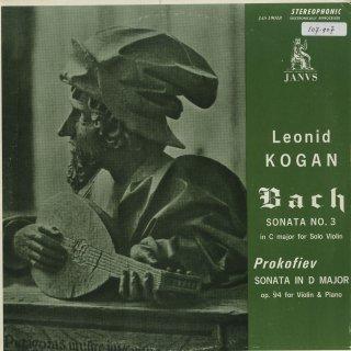 バッハ:無伴奏ヴァイオリン・ソナタ3番,プロコフィエフ:ヴァイオリン・ソナタ2番