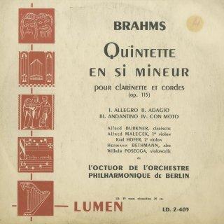 ブラームス:クラリネット五重奏曲Op.115