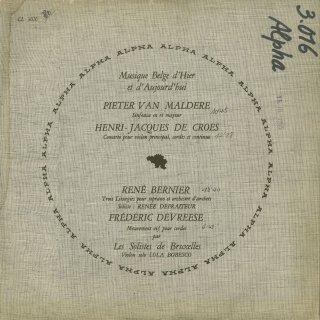 同時代のベルギーの音楽/マルデール,デュ・クロ,ベルニエ,ドゥブレーズ