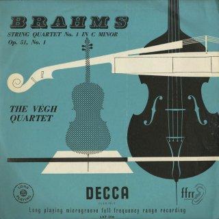 ブラームス:弦楽四重奏曲1番Op.51−1