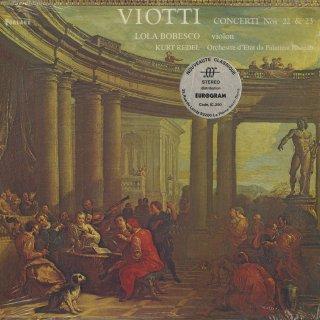 ヴィオッティ:ヴァイオリン協奏曲22,23番