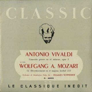 モーツァルト:ディヴェルティメント11番K.251,ヴィヴァルディ:合奏協奏曲Op.3−11