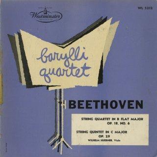 ベートーヴェン:弦楽四重奏曲6番Op.18−6,弦楽五重奏曲Op.29