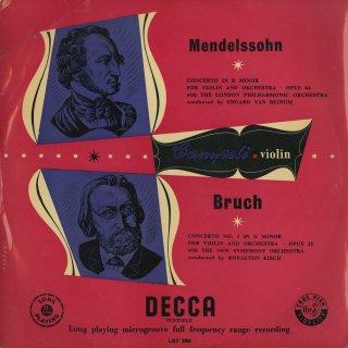 ヴァイオリン協奏曲集/メンデルスゾーン:Op.64,ブルッフ:1番Op.26