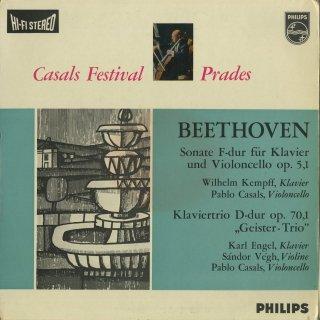 ベートーヴェン:チェロ・ソナタ1番Op.5−1,ピアノトリオ5番Op.70−1「幽霊」