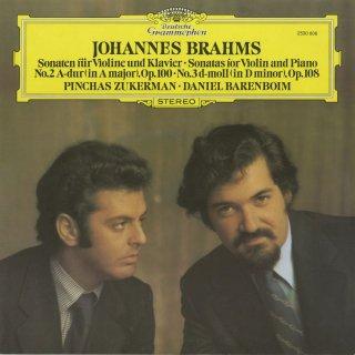 ブラームス:ヴァイオリン・ソナタ2番Op.100,3番Op.108