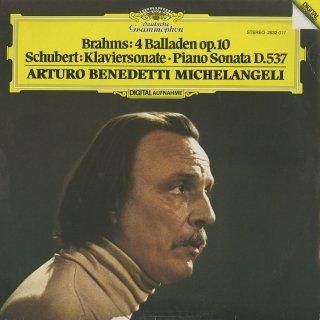 ブラームス:バラード集Op.10,シューベルト:ピアノ・ソナタ4番Op.164
