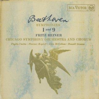 ベートーヴェン:交響曲9番Op.125「合唱」,1番Op.21