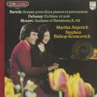 「2ピアノ・連弾集」バルトーク:2ピアノと打楽器のためのソナタ,ドビュッシー:白と黒で,モーツァルト