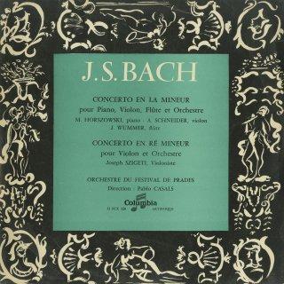 バッハ:ヴァイオリン協奏曲B.1052,フルート・ヴァイオリン・ピアノ協奏曲B.1044