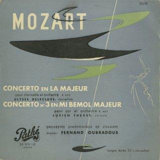 モーツァルト:クラリネット協奏曲K.622,ホルン協奏曲3番K.447
