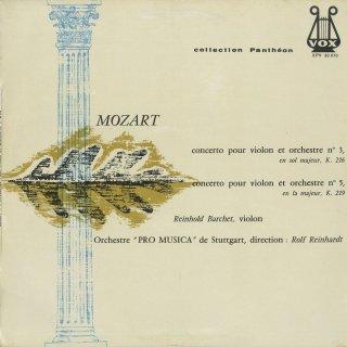モーツァルト:ヴァイオリン協奏曲3番K.216,5番K.219