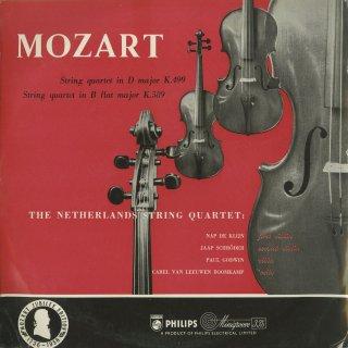 モーツァルト:弦楽四重奏曲20番K.499「ホフマイスター」,22番K.589
