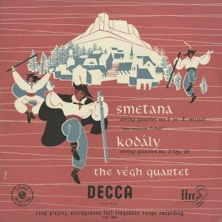 スメタナ:弦楽四重奏曲1番「わが生涯より」,コダーイ:弦楽四重奏曲2番Op.10