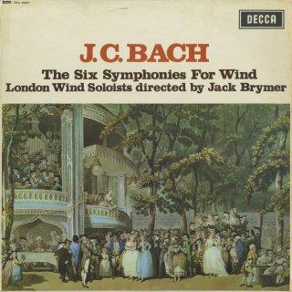 J.C.バッハ:6つの管楽のための交響曲